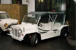 Mini Moke nach der Restauration in perfektem Zustand